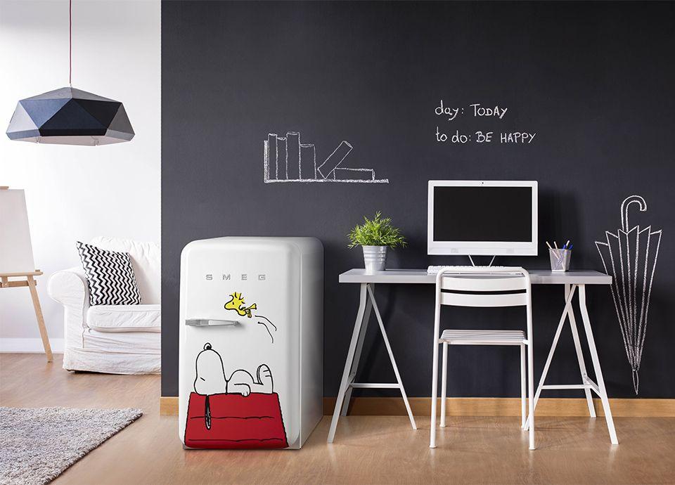Réfrigérateur SMEG FAB10 Snoopy en collaboration avec Charles Schulz