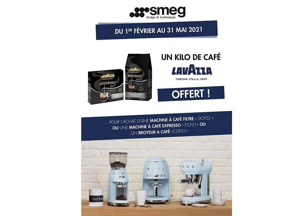 opération commerciale café lavazza machine à café broyeur à café smeg
