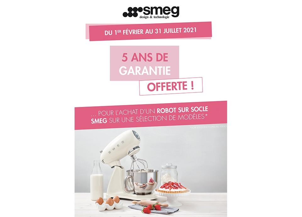 Pour tout achat d'un Robot sur Socle, SMEG vous propose 5 ans de garantie offerte ! | Smeg France