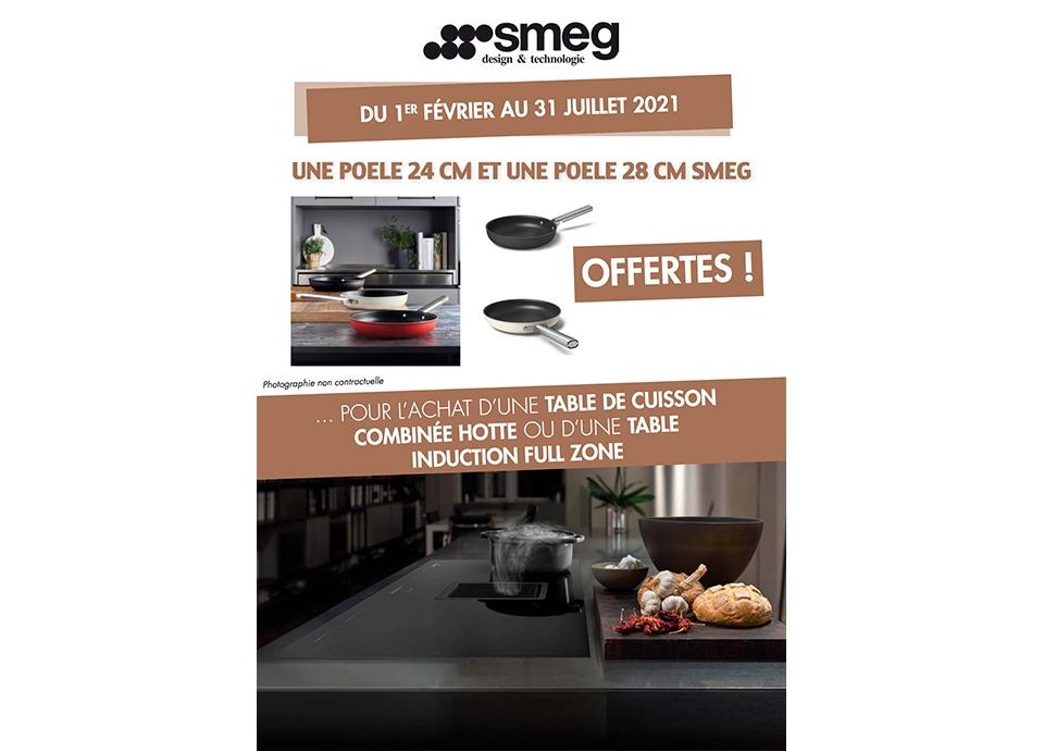 opération commerciale promo smeg table de cuisson induction poele