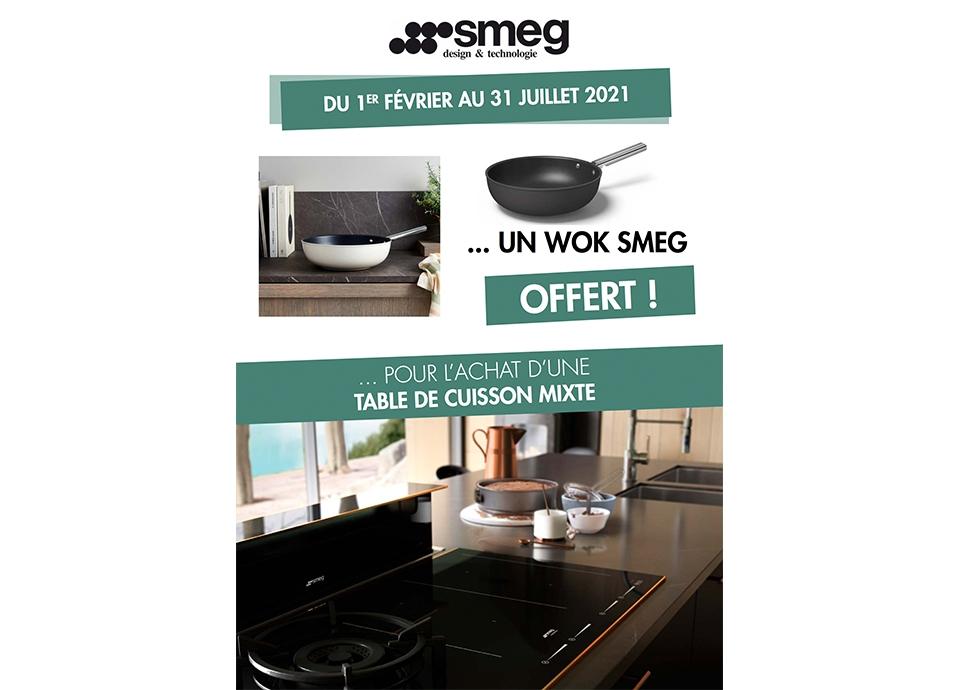 opération commerciale table de cuisson mixte wok