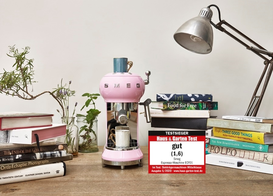 Smeg Espressomaschine belegt Spitzenplatz bei Haus & Garten Test