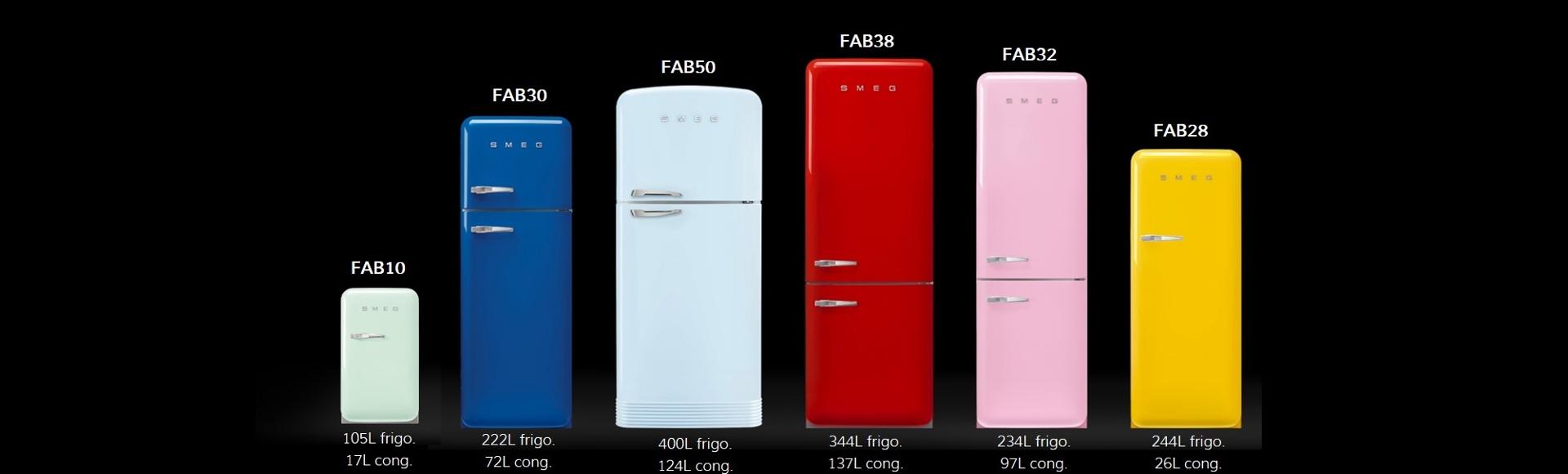 Collezione frigoriferi FAB 50's style