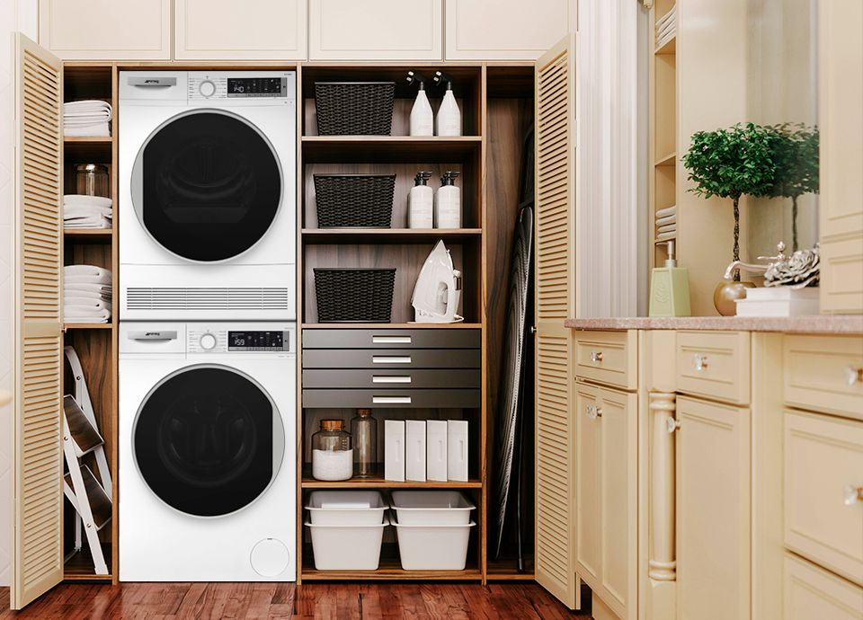 Side-by-side or stacked appliances
