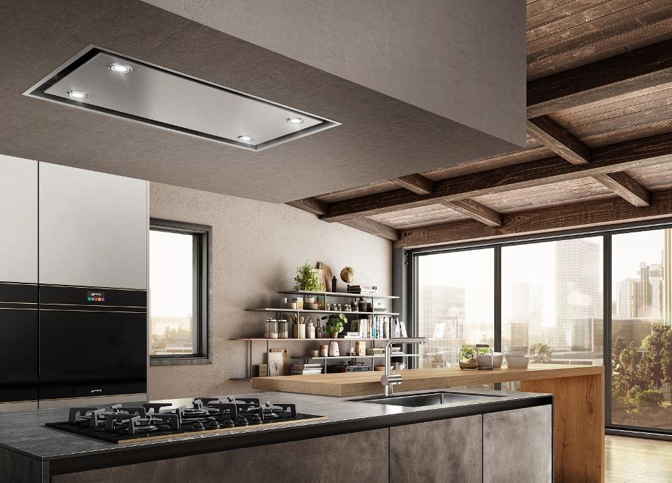 Estiliza tu cocina con una campana de techo Smeg