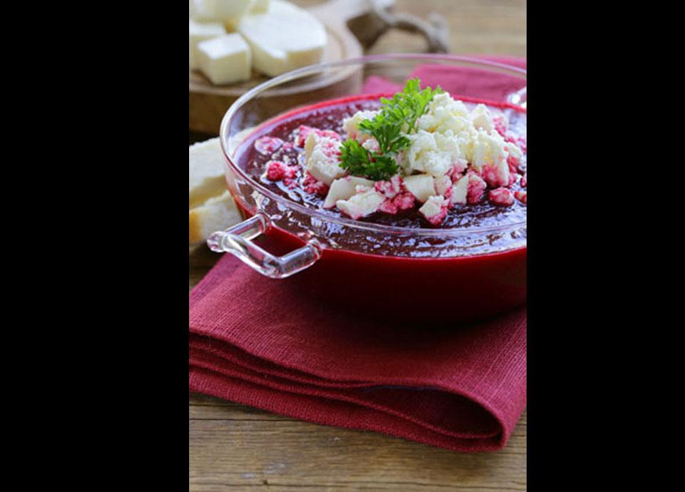 Sopa de remolacha y pimiento asado| Smeg
