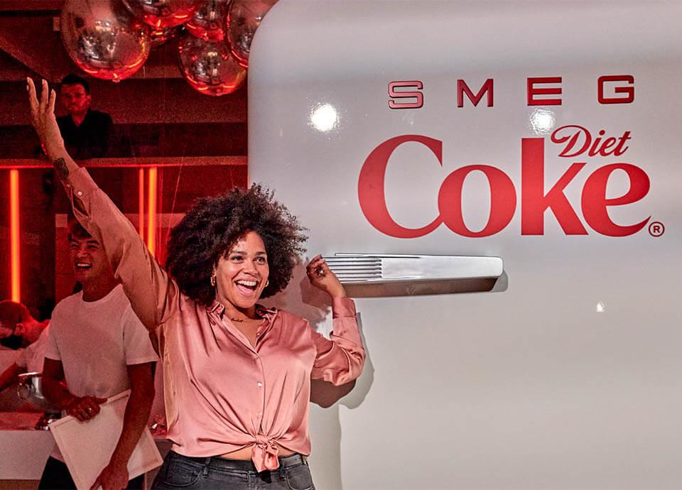 Diet Coke x Smeg event