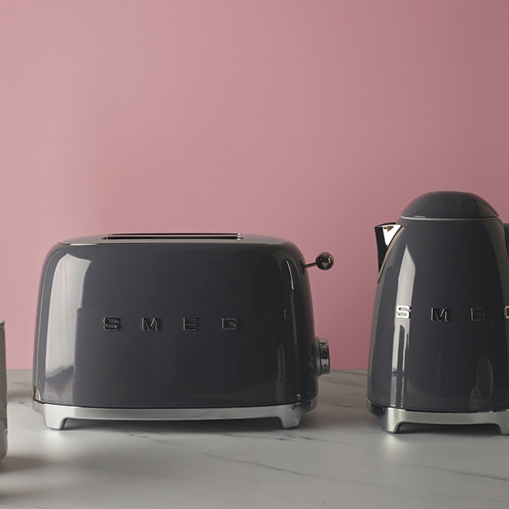 Slate grey kettle and toaster
