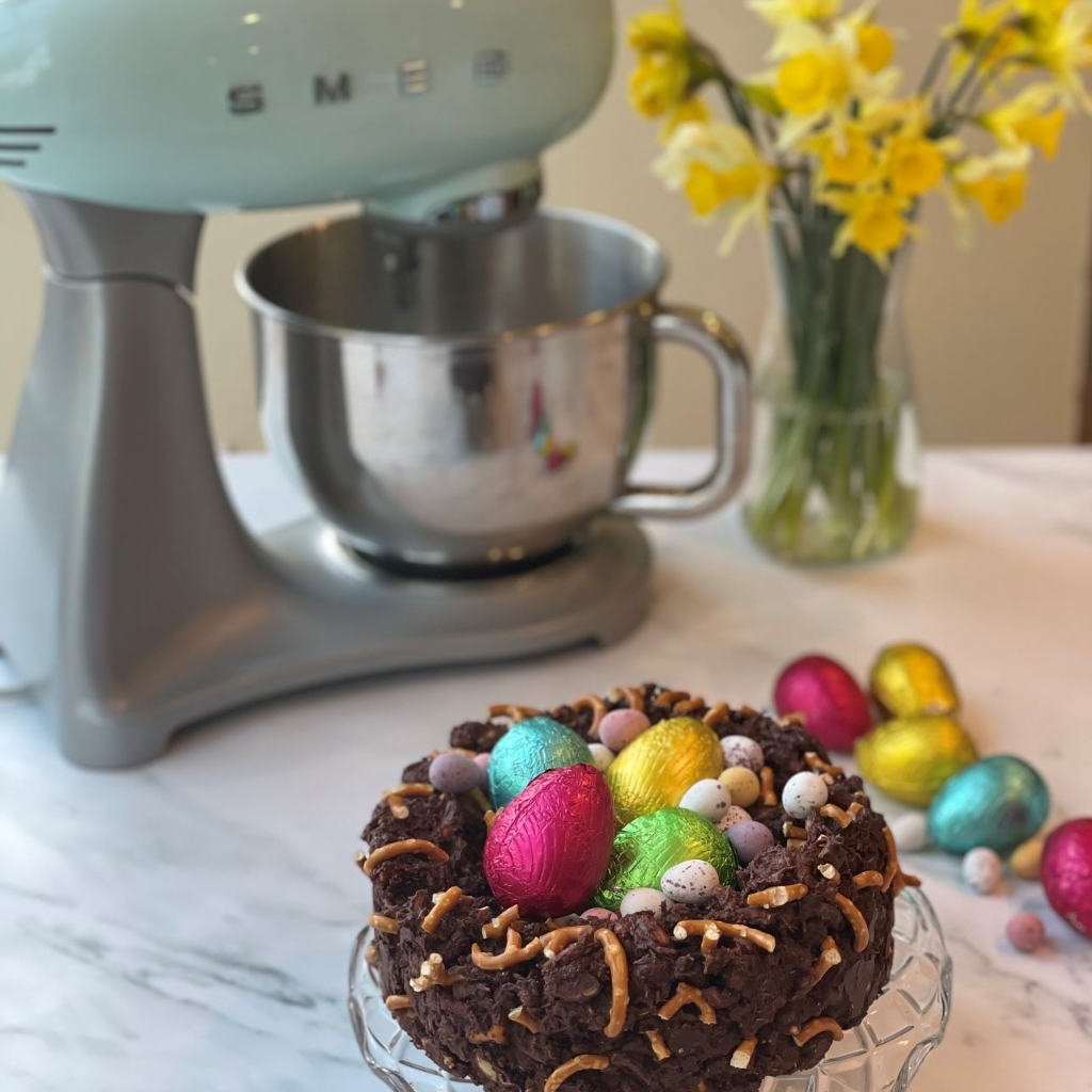Chocolate Easter Tiffin Nest