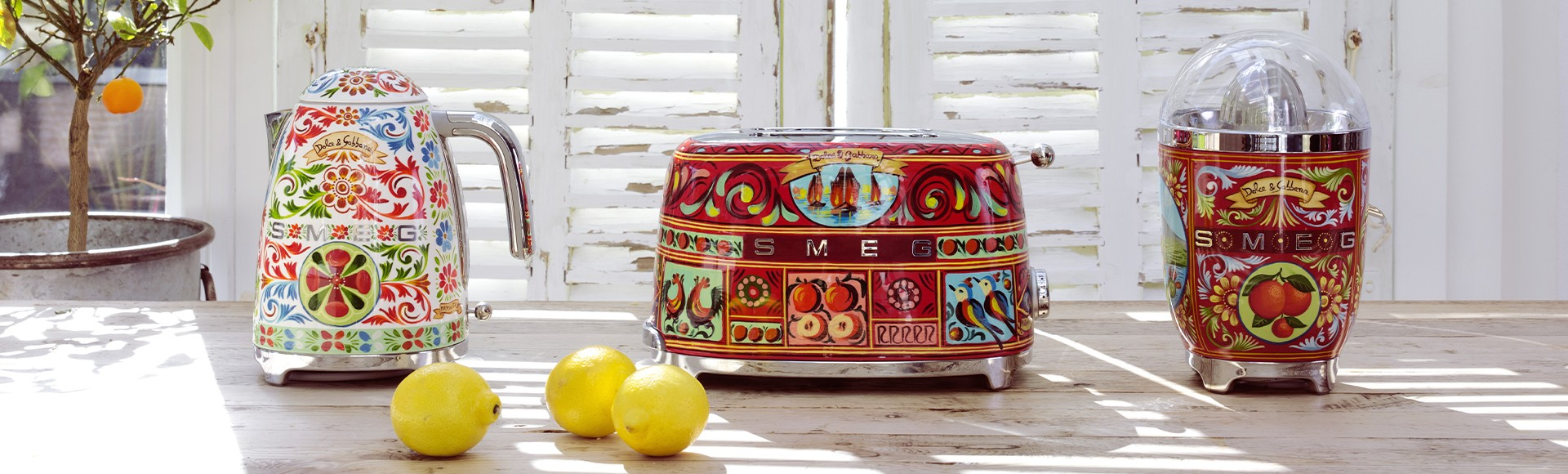 Sicily is my love collection by Smeg and Dolce&Gabbana