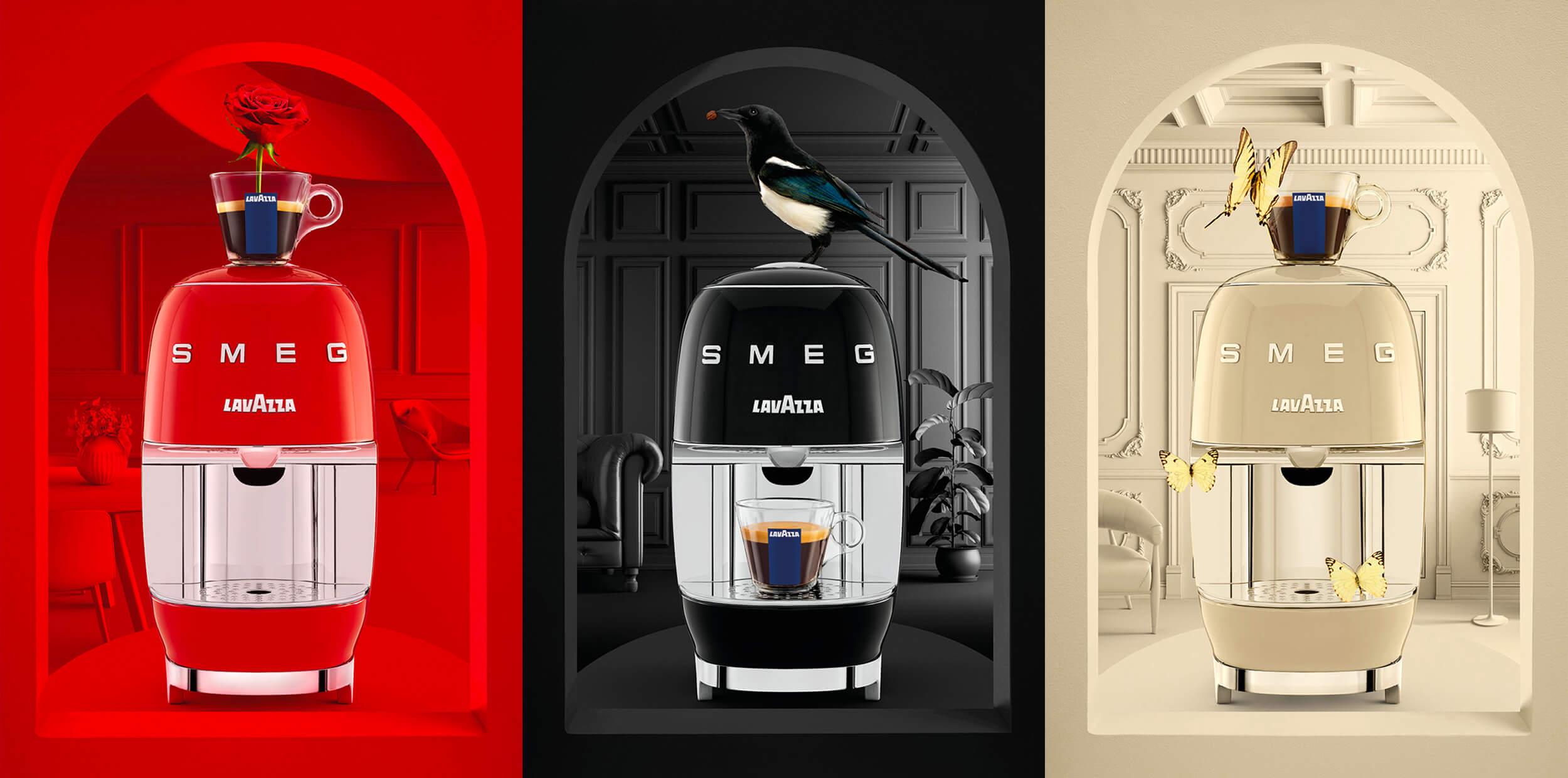 Lavazza pod coffee machine in 3 colours