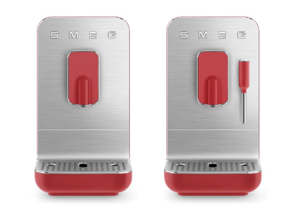 Machines à café avec broyeur intégré Rouge mat