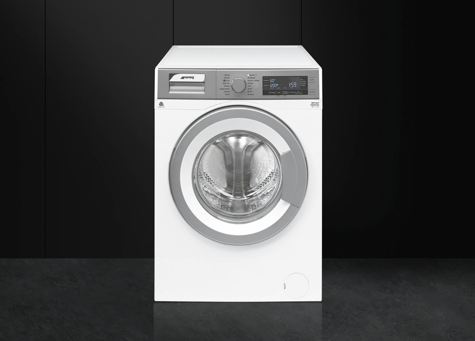Reduced depth washing machines