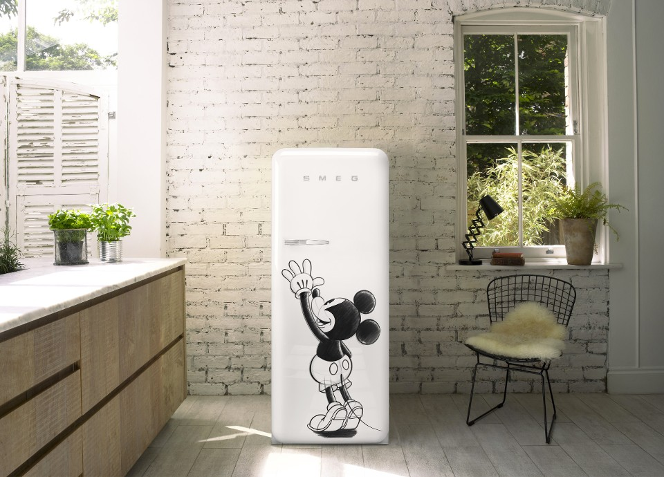 FAB28 Mickey Mouse Fridge - Smeg