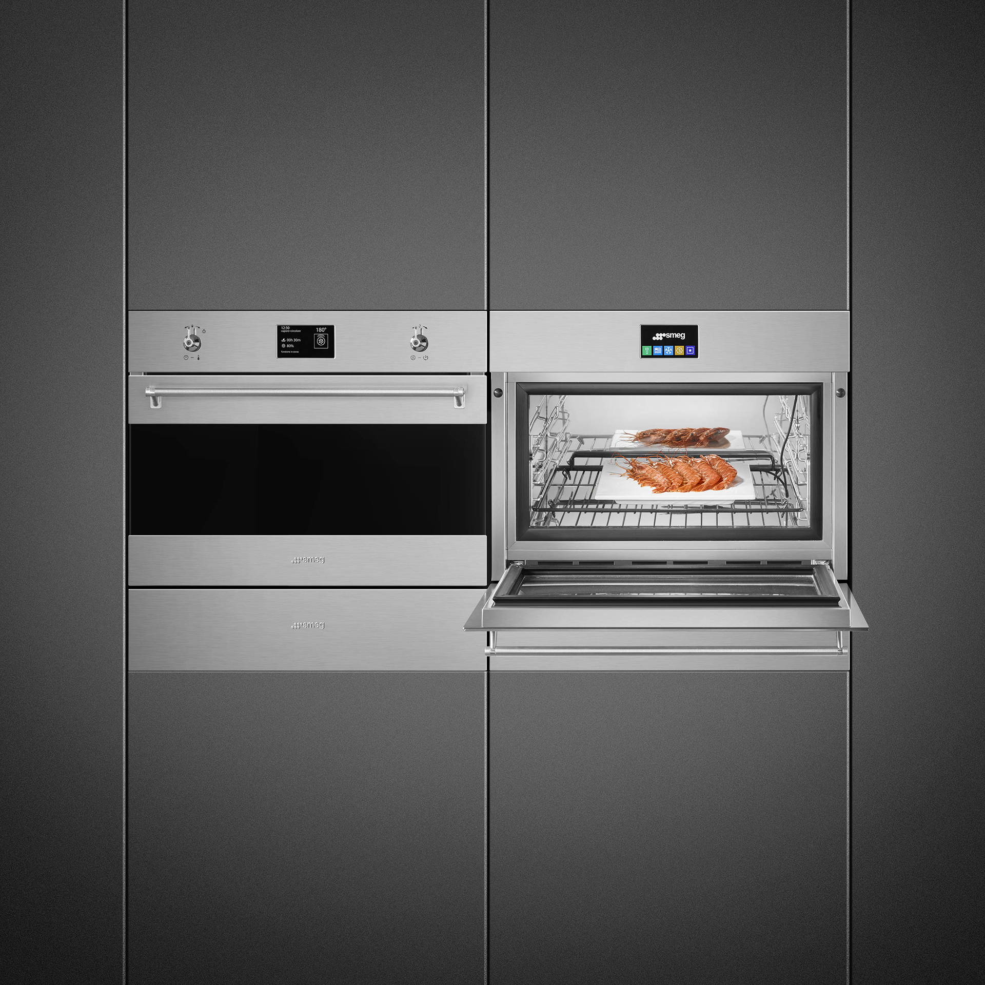 Blast chiller, Vacuum drawer and Combi Steam Oven