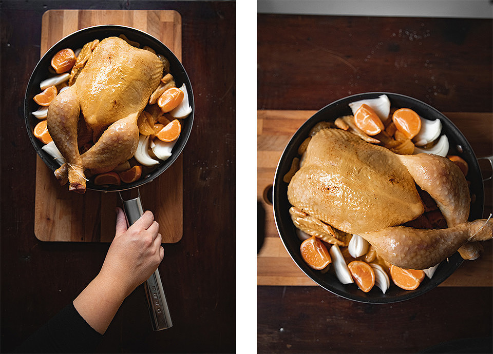 CLEMENTINES, VANILLA AND RUM CHRISTMAS CAPON