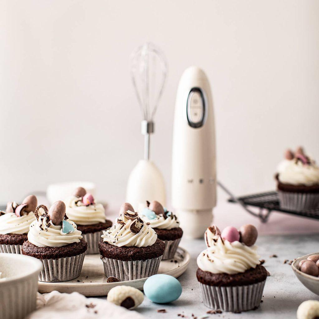 Cupcakes de Pâques au chocolat Smeg