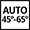 Auto 45°- 65°: The auto programme regulates the length of a cycle depending on the need for a pre-wash and the number of rinses required.
